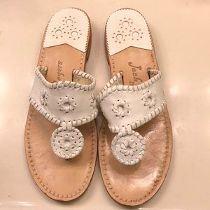 Jack Rogers White Sandals